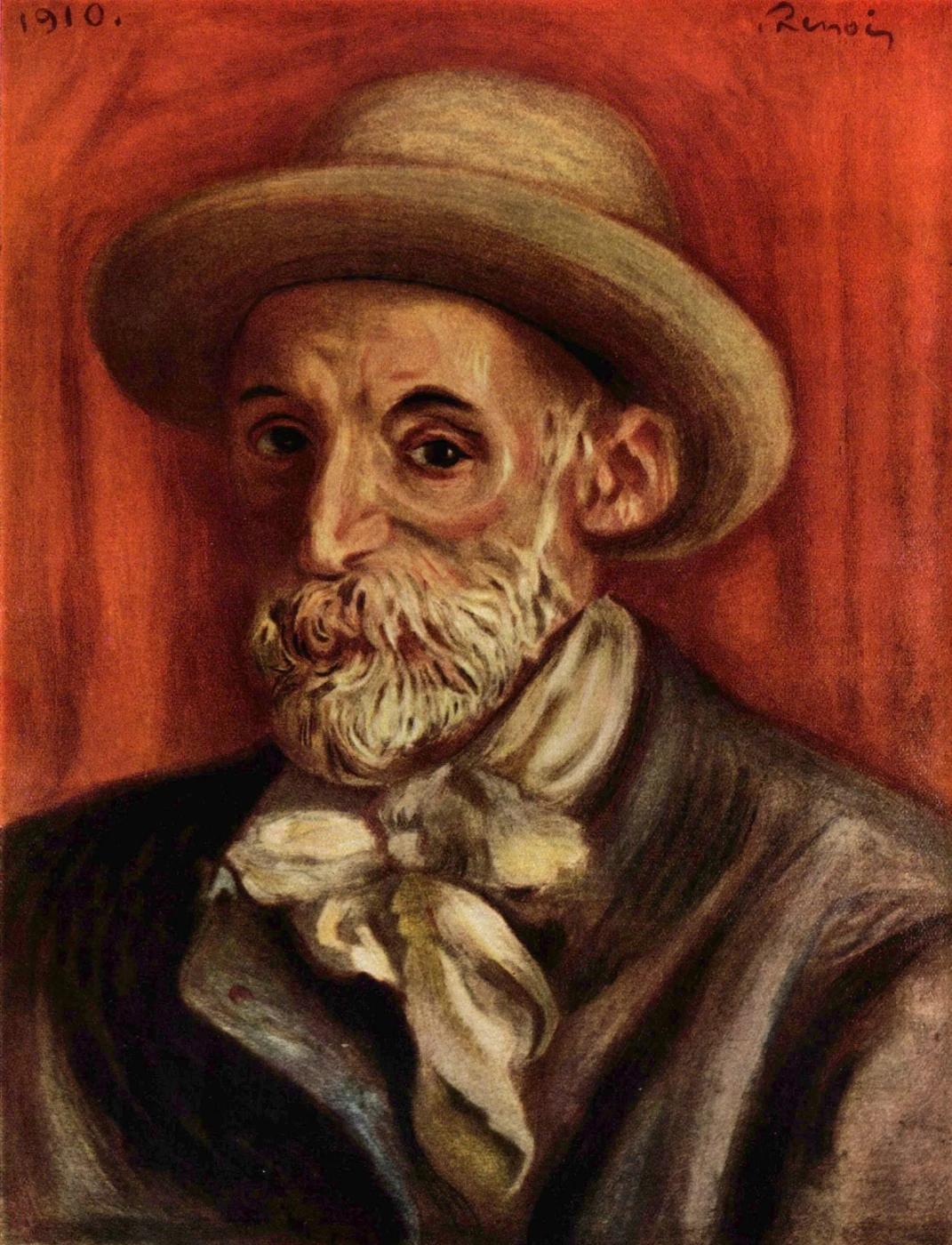 Пьер Огюст Ренуар — «Автопортрет» 1910г., частная коллекция.