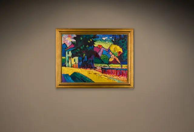 Василий Кандинский «Мурнау. Пейзаж с зелёным домом», 1909 на Sotheby's