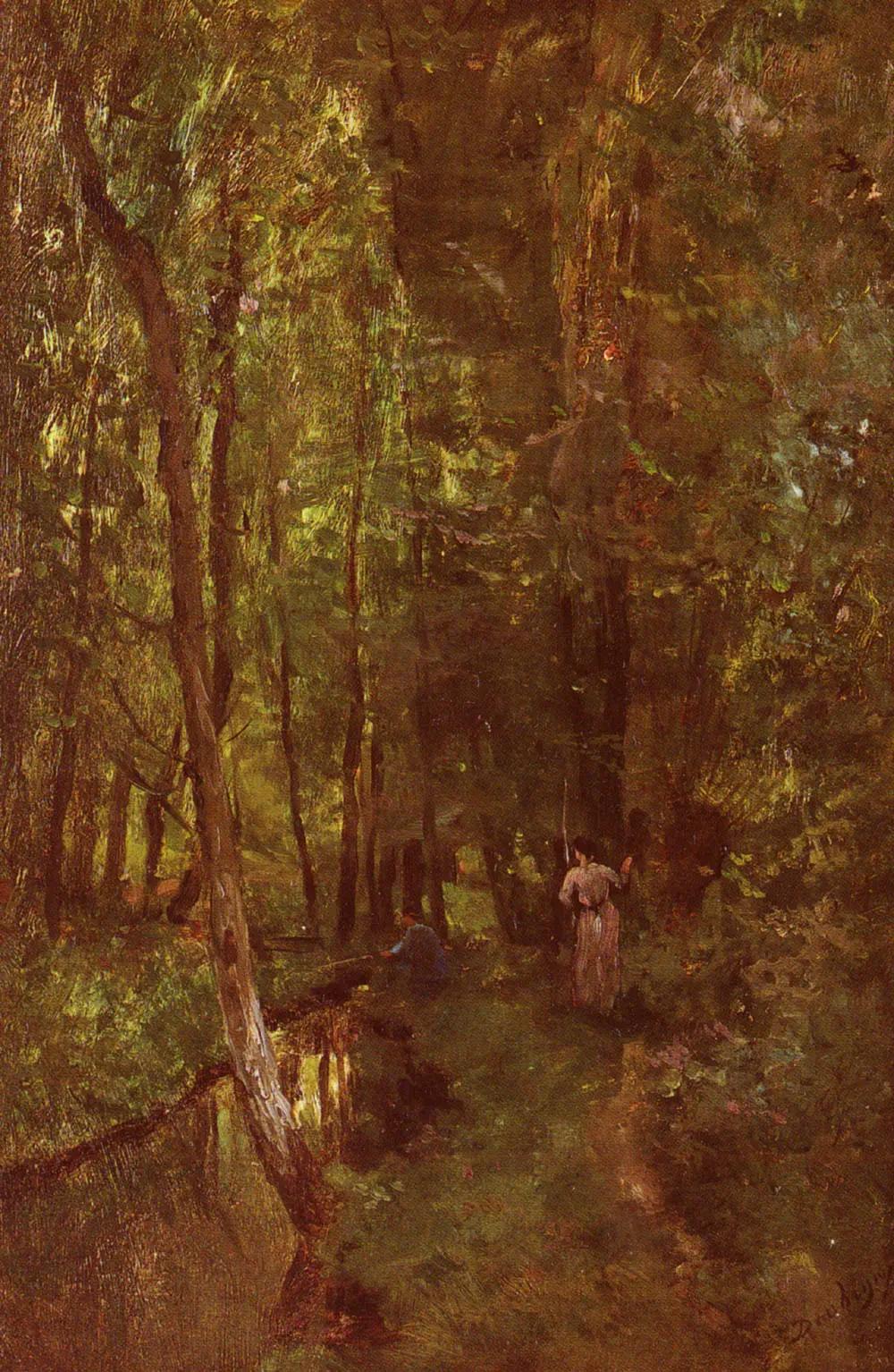 В лесу у реки Шарль-Франсуа Добиньи