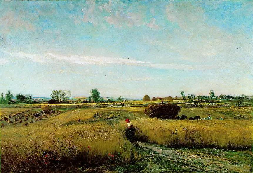 Урожай, 1851 Шарль-Франсуа Добиньи