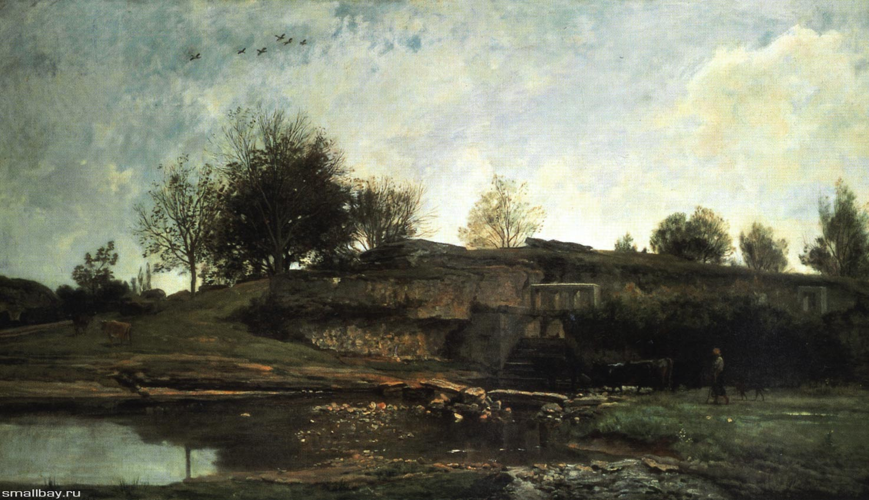 «Озеро в Оптево», Шарль-Франсуа Добиньи 1855 г., Музей изобразительного искусства и керамики , Руан