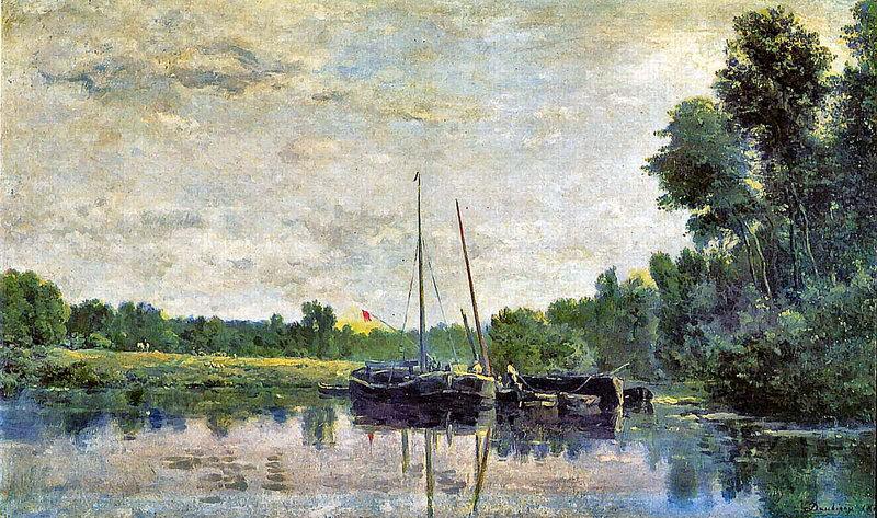 Пейзаж Шарль-Франсуа Добиньи