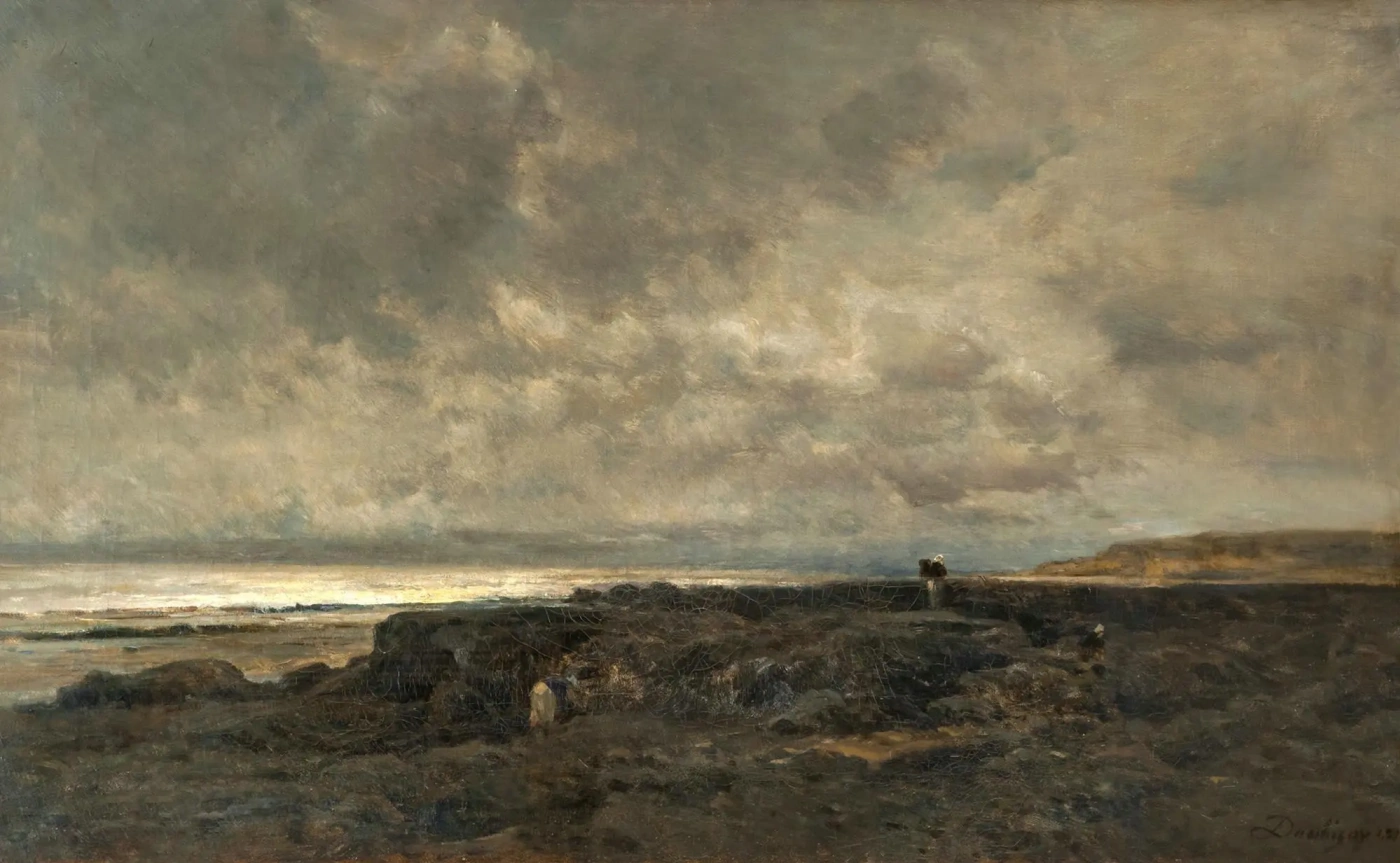 Прилив в Нормандии. Шарль-Франсуа Добиньи 1869, 47 × 72 см