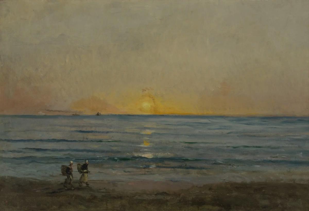 Закат возле Виллервилля Шарль-Франсуа Добиньи , 1876, 89 × 130 см