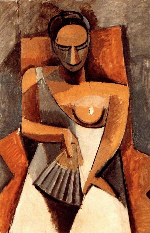 Женщина с веером Пабло Пикассо (1907) Россия, Санкт-Петербург, Государственный Эрмитаж