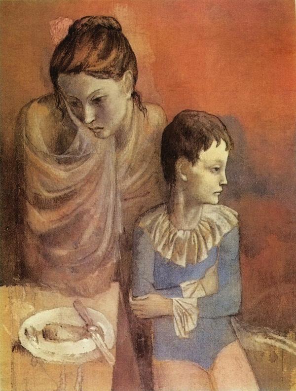 Пабло Пикассо «Акробаты мать и сын»1905, Deutschland, Stuttgart, Staatsgalerie