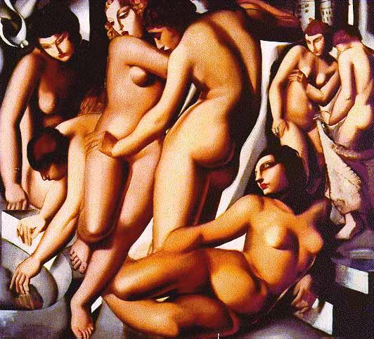 Купание женщин Тамара Лемпицка (1929)