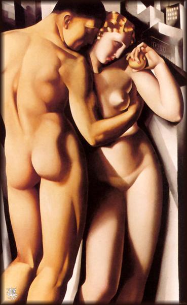 Адам и Ева Тамара Лемпицка 1932 г.