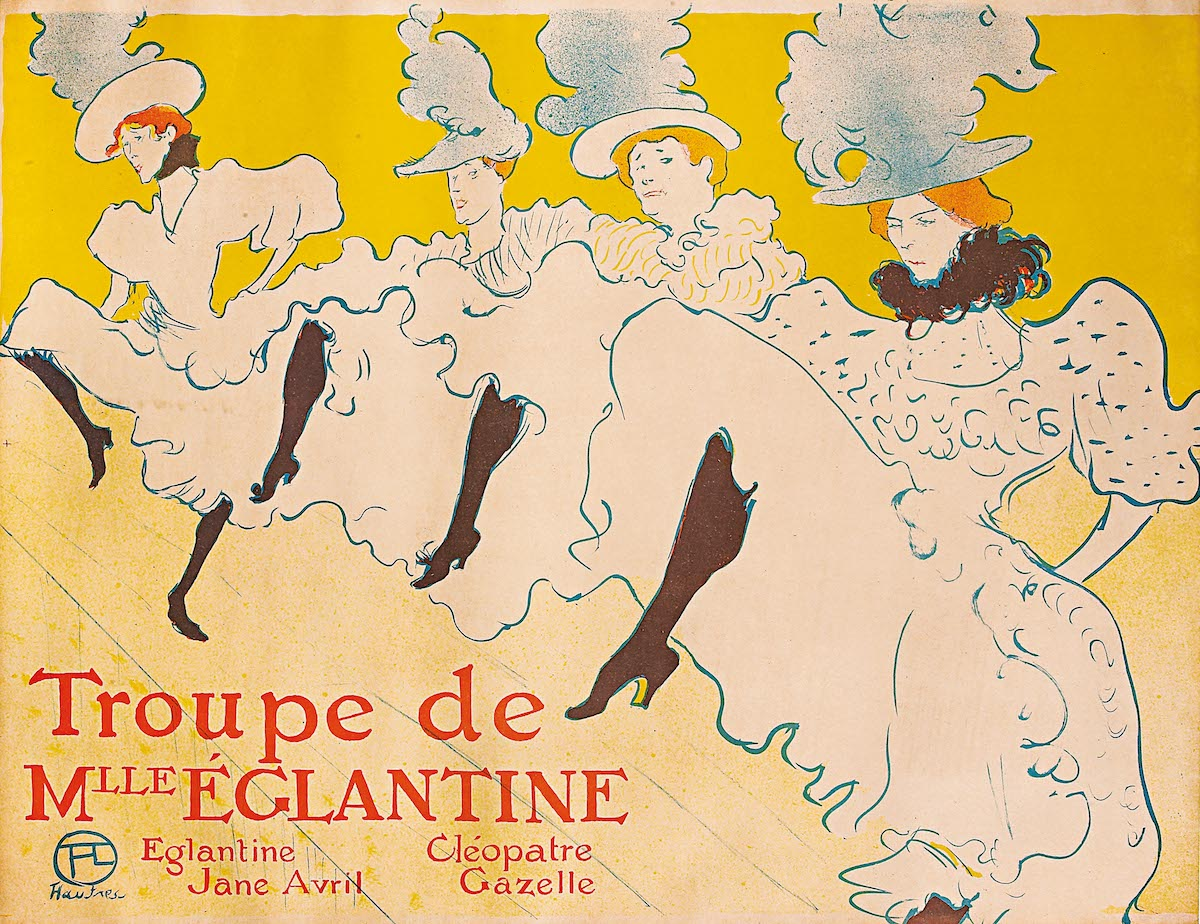Анри де Тулуз-Лотрек, Труппа мадемуазель Эглантин , 1896 год .ПРЕДОСТАВЛЕНО PAN ART CONNECTIONS, INC.