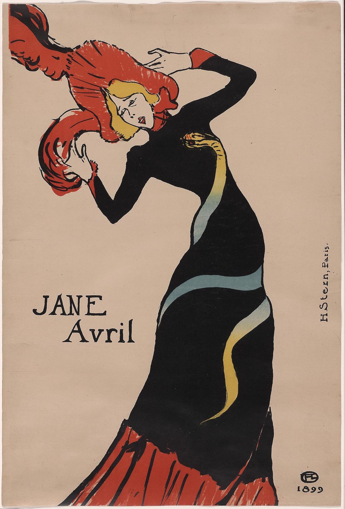 Анри де Тулуз-Лотрек, Джейн Аврил , 1899 г.ХУДОЖЕСТВЕННЫЙ ИНСТИТУТ ЧИКАГО