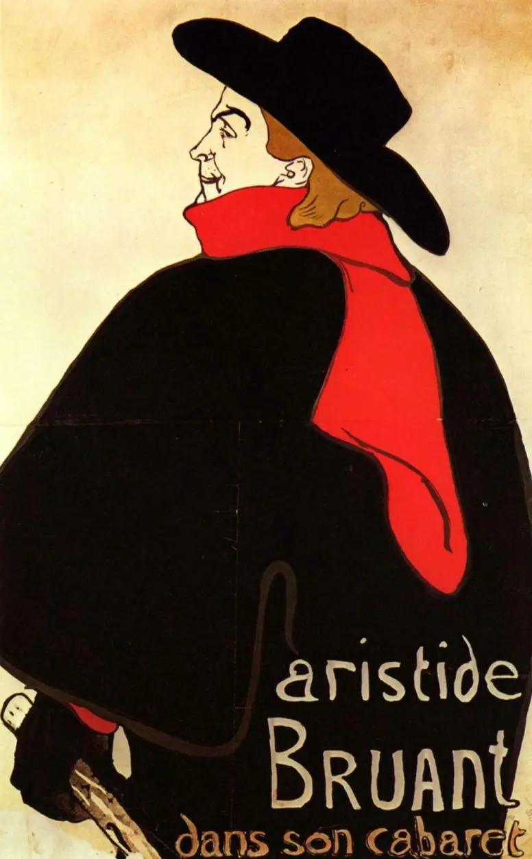 Аристид Брюан в своем кабареАнри де Тулуз-Лотрек Живопись, 1893, 138 × 99 см Музей Метрополитен, Нью-Йорк