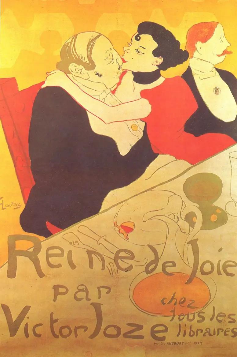 Рейн де Жуа, плакатАнри де Тулуз-Лотрек Живопись, 1892, 136 × 93 см Музей Тулуз-Лотрека, Альби
