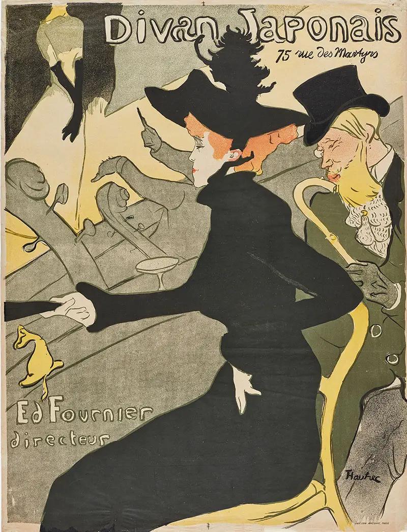 Диван Японский Анри де Тулуз-Лотрек Плакат, 1893, 80.7 × 61.4 см