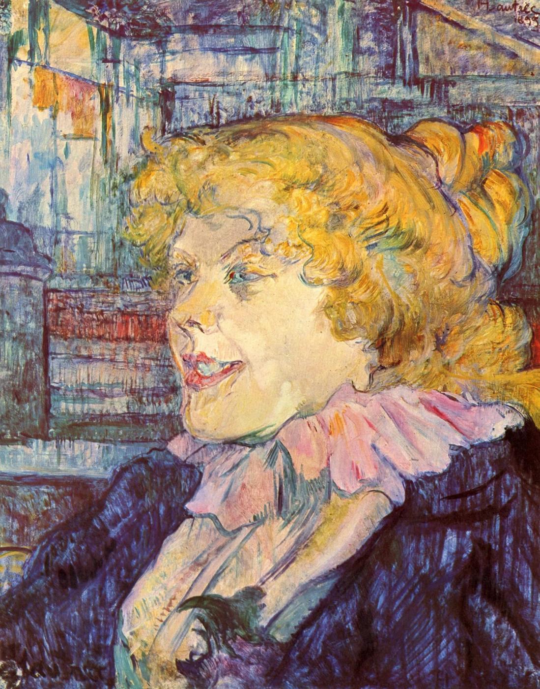 «Англичанка из Звезды в Гавре» Анри де Тулуз-Лотрек Живопись, 1899, 41 × 32.8 см