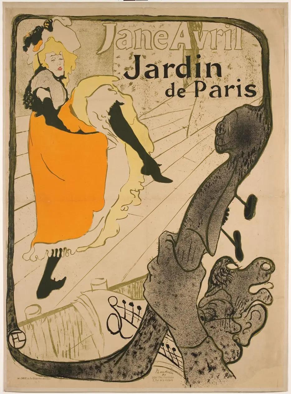 Джейн Аврил Анри де Тулуз-Лотрек Графика, 1860-е