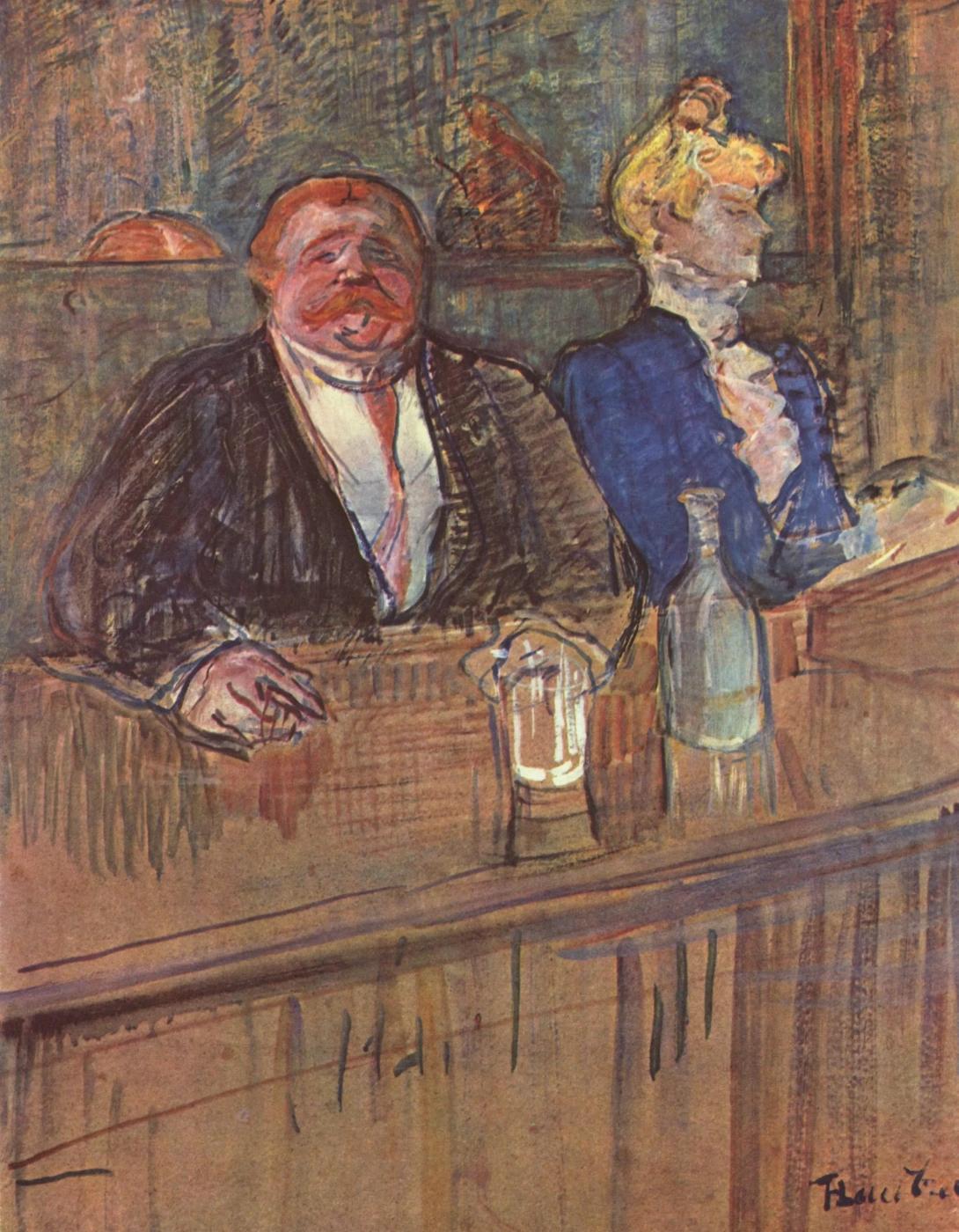 Бар Анри де Тулуз-Лотрек Живопись, 1898, 81.5 × 60 см