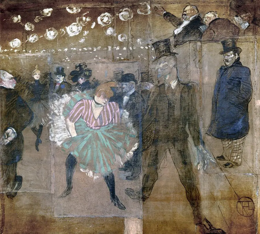 Танец Ла Гулю и Жака Ренодена Анри де Тулуз-Лотрек Живопись, 1895, 298 × 316 см