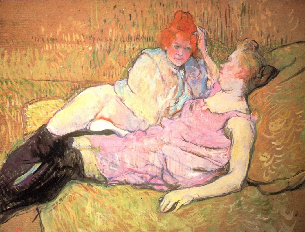 Диван Анри де Тулуз-Лотрек Живопись, 1896, 63 × 81 см