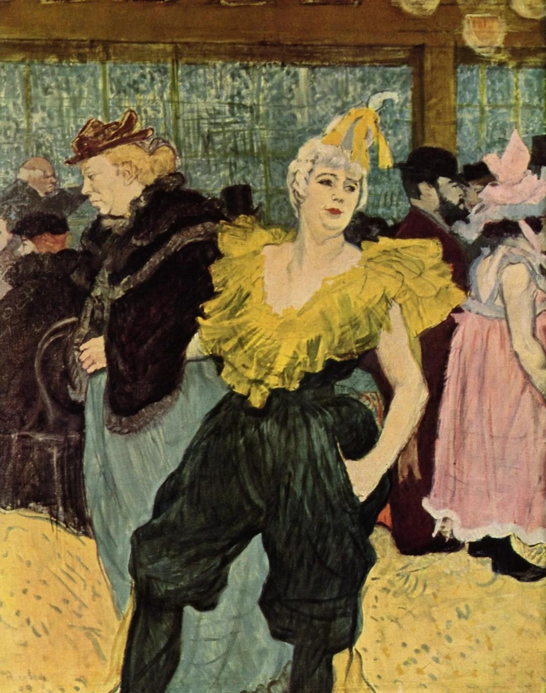Клоунада Ша-У-Као в Мулен Руж Анри де Тулуз-Лотрек Живопись, 1895, 75 × 55 см