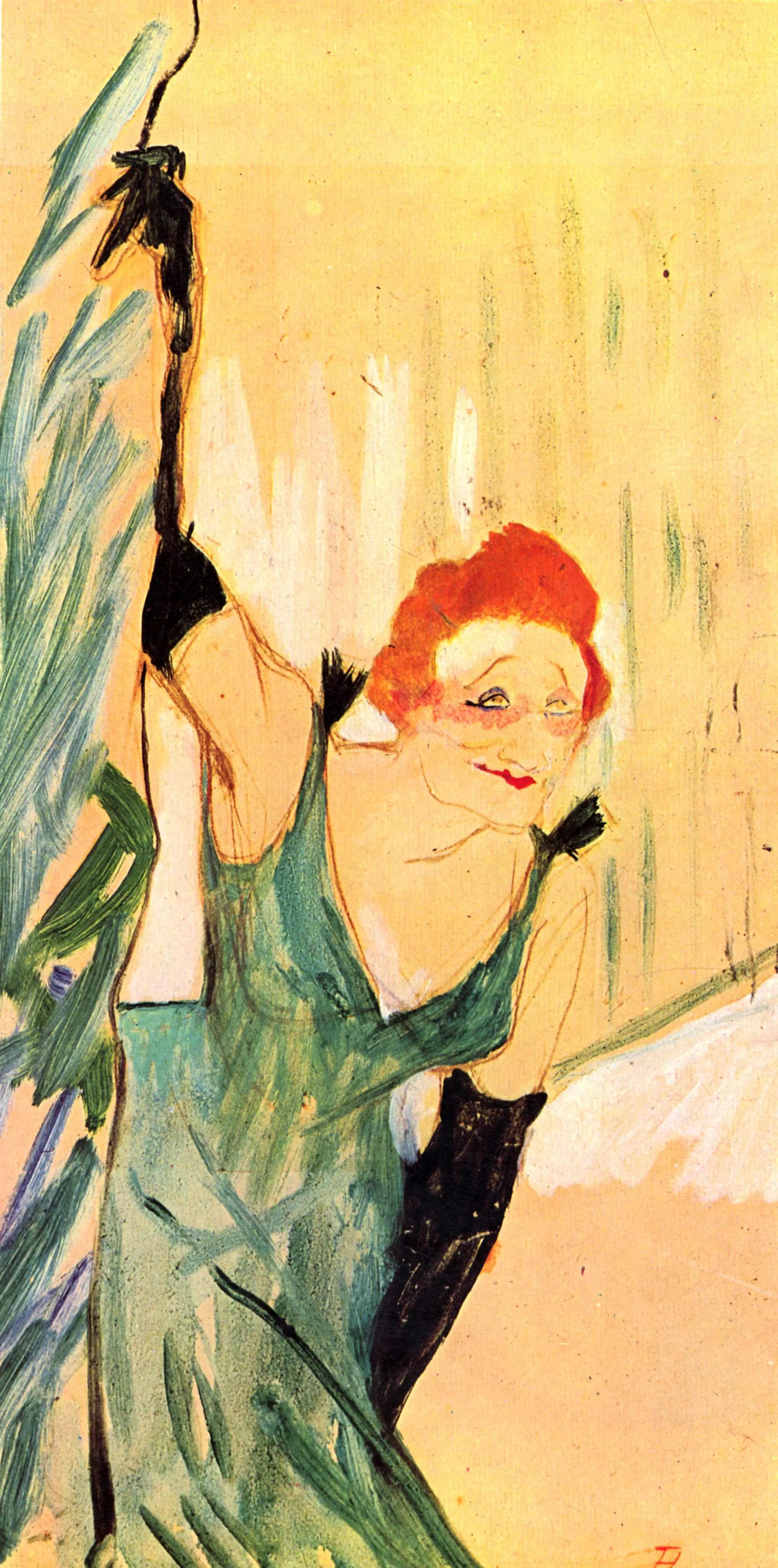 Иветт Гильбер Анри де Тулуз-Лотрек Живопись, 1894, 48 × 28 см