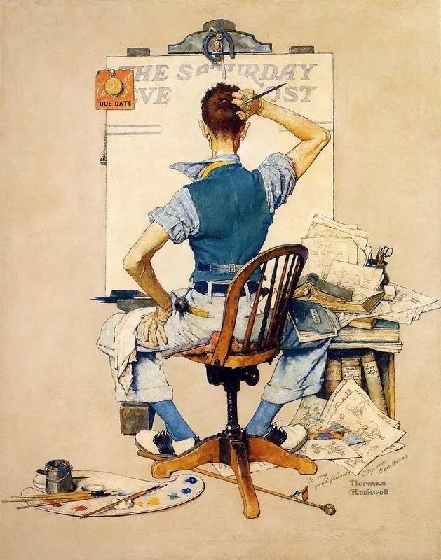 Последний срок Норман Роквелл Рисунки и иллюстрации, 1938, 77 × 98 см