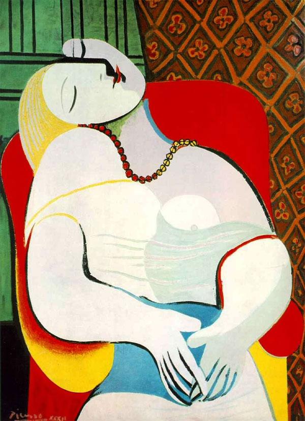 Картина Пабло Пикассо «Сон», 1932 год