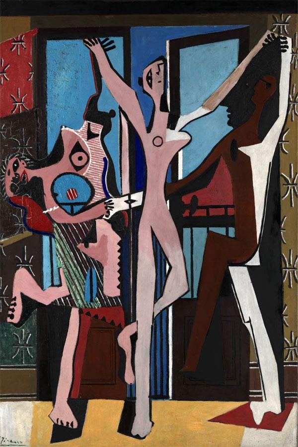 "Картина Пабло Пикассо ""Танец, Три танцора, Три танцовщицы"" 1925, UK, London, Tate Gallery"