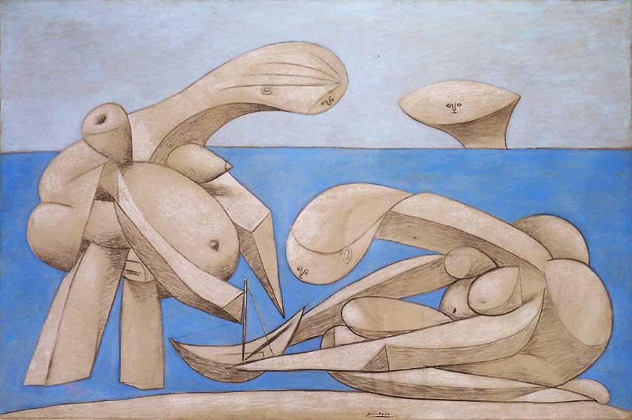 Картина Пабло Пикассо «Купальщицы с игрушечной лодкой» 1937, Italy, Venice, Peggy Guggenheim Collection