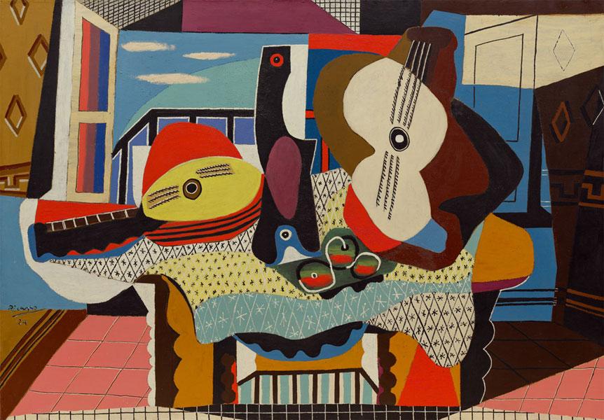 Картина Пабло Пикассо «Мандолина и гитара» 1924, USA, New York, Solomon Guggenheim Museum