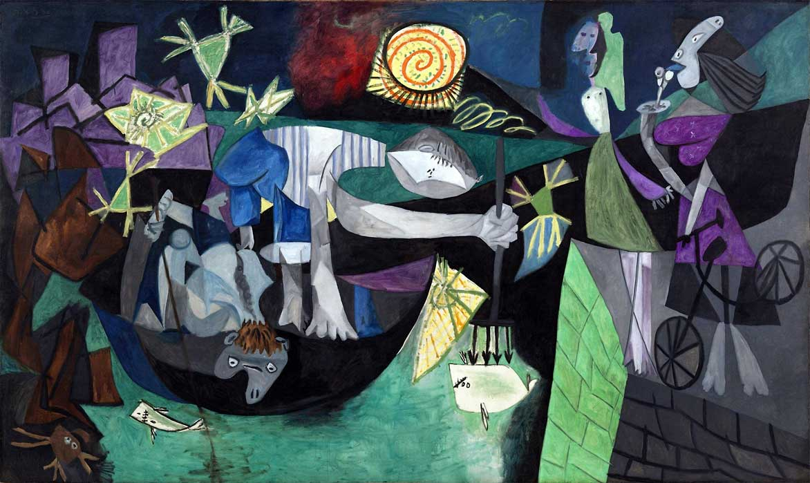"Картина Пабло Пикассо ""Ночная рыбалка на Антибах"" 1939 год, USA, New York, MoMA"