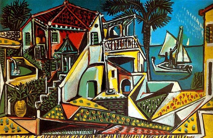 Картина Пабло Пикассо «Средиземноморский пейзаж» 1952