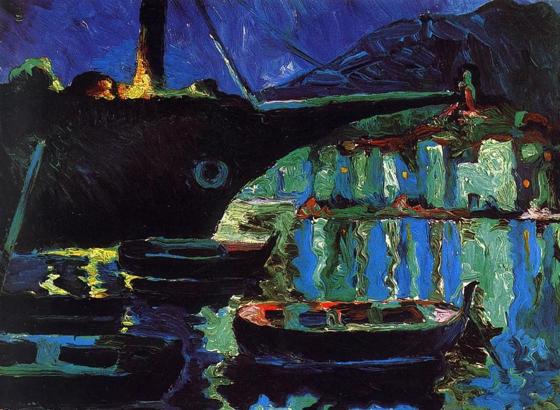 Порт Кадакес. Ночь Сальвадор Дали Живопись, 1918, 18 × 24 см Музей Сальвадора Дали, Санкт-Петербург