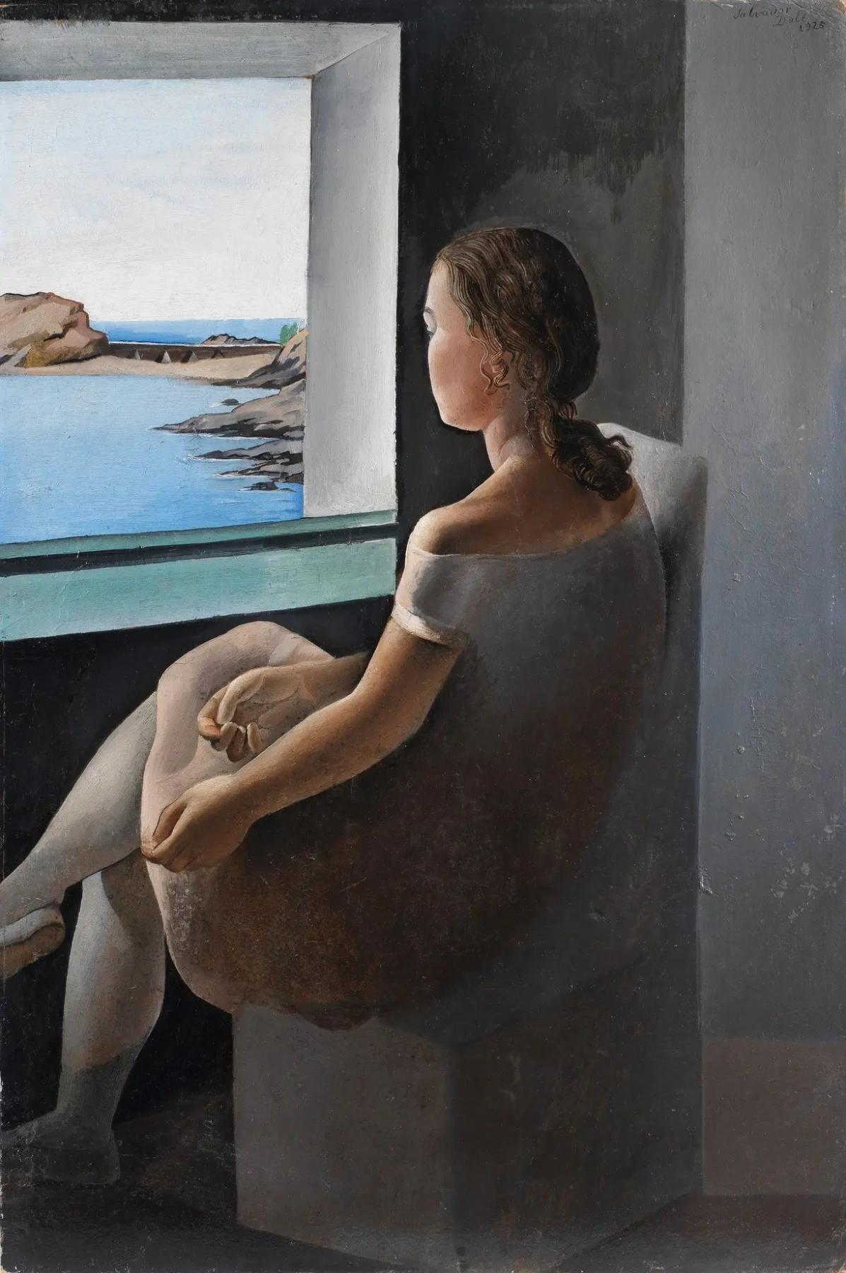 Фигура в профиль (Портрет сестры Анны-Марии) Сальвадор Дали Живопись, 1925, 74.2 × 50 см Театр-музей Дали, Фигерас