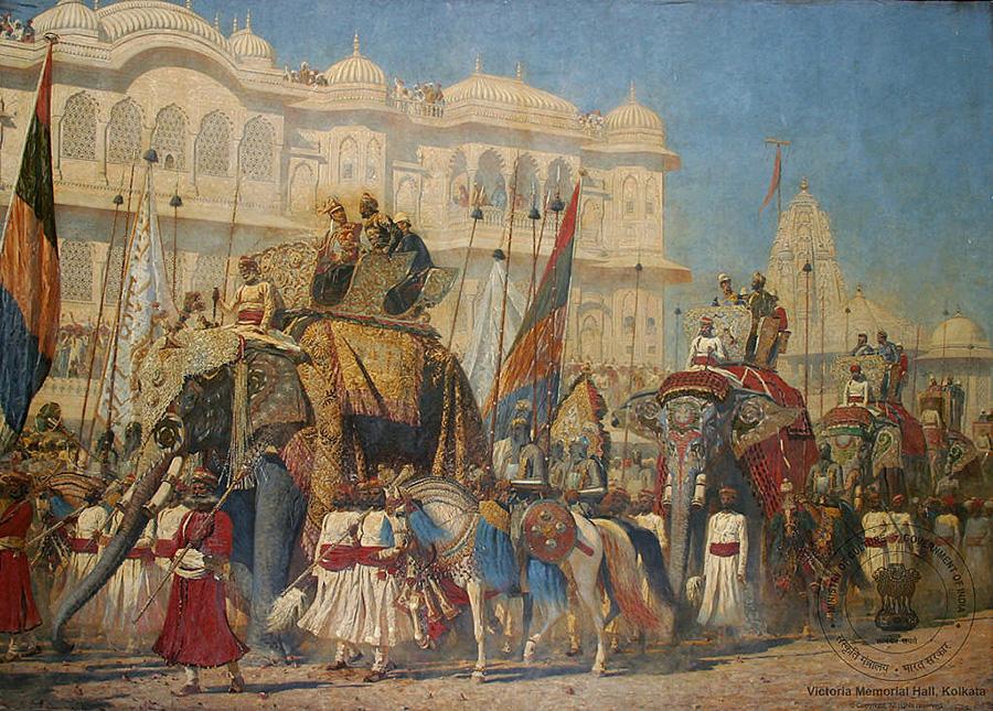 Василий Верещагин. «Шествие слонов. Въезд принца Уэльского в Джайпур в 1876 году». Фото: Victoria Memorial, Kolkata