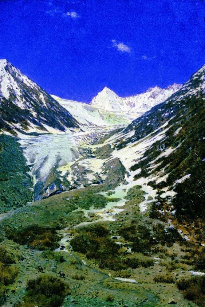 Василий Верещагин / Vasily VereshaginСеверная Индия. Ледник по дороге из Кашмира в Ладакх, 1877