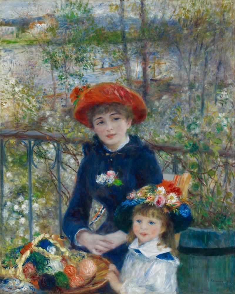 Пьер Огюст Ренуар «Две сестры. или На террасе» (фрагмент) 1881 г. Институт искусств, Чикаго