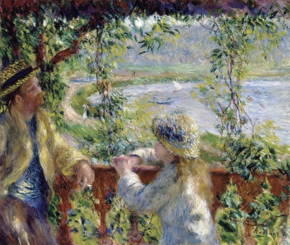 Озеро Пьер Огюст Ренуар Живопись, 1880, 46.2 × 55.4 см Чикагский институт искусств, Чикаго