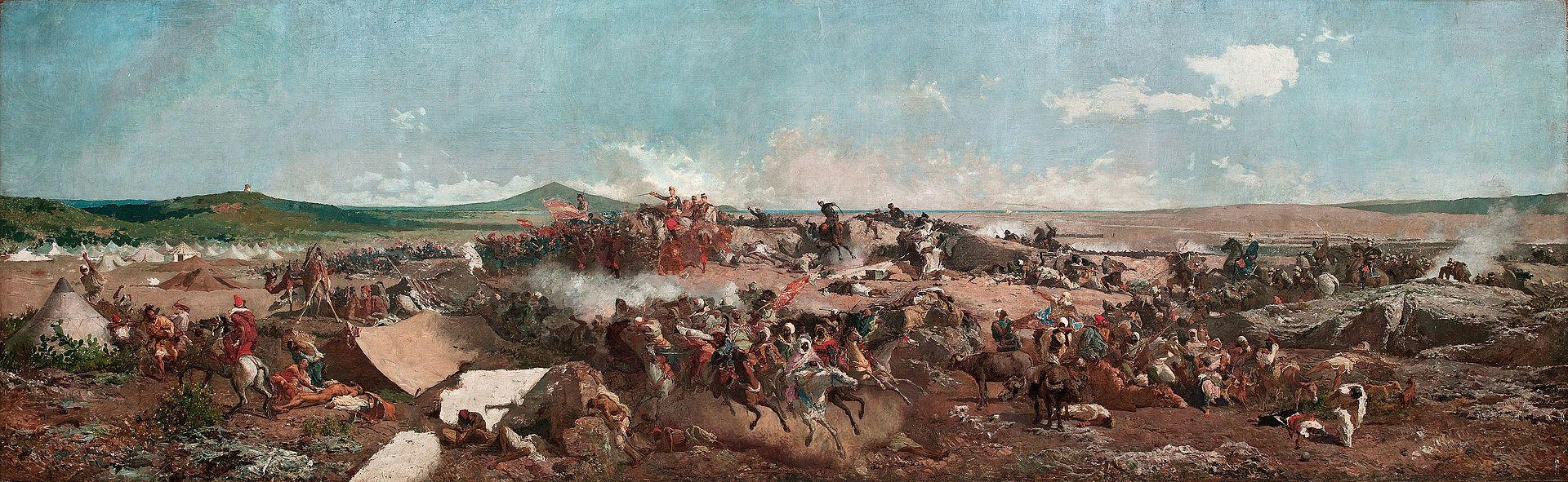 Битва при Тетуане. Картина Мариано Фортунити. - La Batalla de Tetuán (Национальный музей искусства Каталонии, 1862-64.