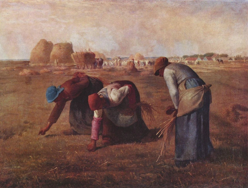 """Собирательницы колосьев"" Жан-Франсуа Милле (1857)  Musee d'Orsay, Париж"