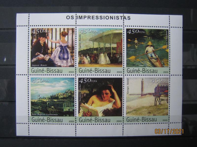 В 2003-06-25 году африканская страна Гвинея-Бисау выпустила мини лист, «Картины импрессионистов» Mi:GW 2315-2320KB, номиналом — 6*450 CFA - West African CFA franc.