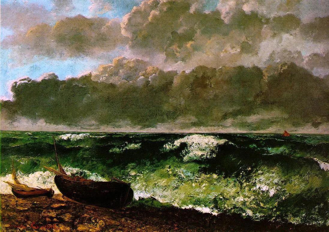 Морской шторм Гюстав Курбе 1870