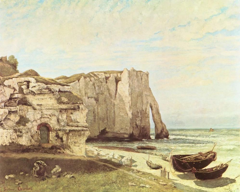 Утёсы Этрета Гюстав Курбе 1870 год. 162 × 133 см