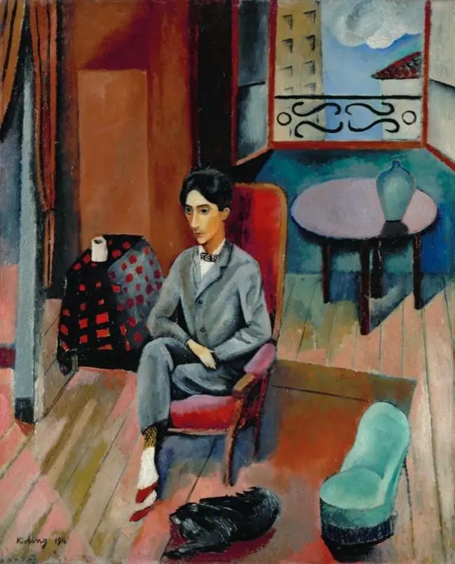 Портрет Жана Кокто Моисей Кислинг 1916, 60×73 см