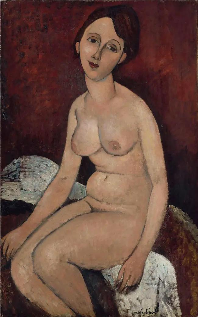 Сидящая обнаженная Амедео Модильяни, 1917, 116×73 см