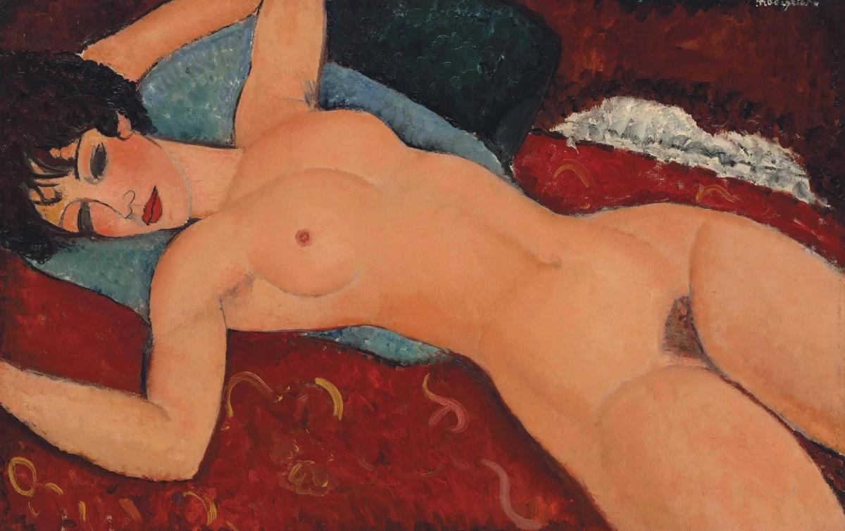Лежащая обнаженная Амедео Модильяни 1917, 92×60 см