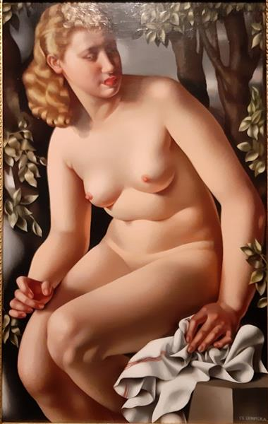 Тамара Лемпицка картина «Купающаяся Сюзанна» (1938).