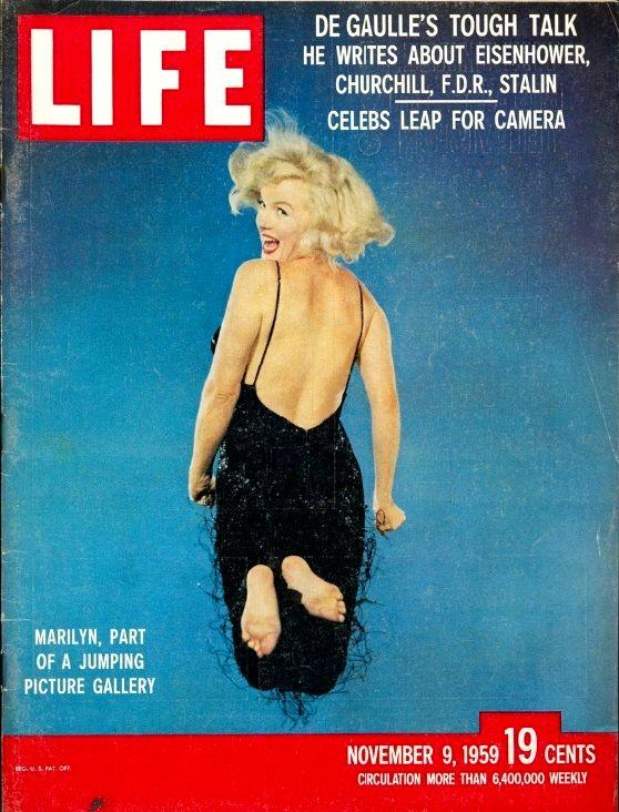 Филипп Халсман Обложка журнала Life с портретом прыгающей Мэрилин Монро работы Филиппа Халсмана, 9 ноября. , 1959 год.