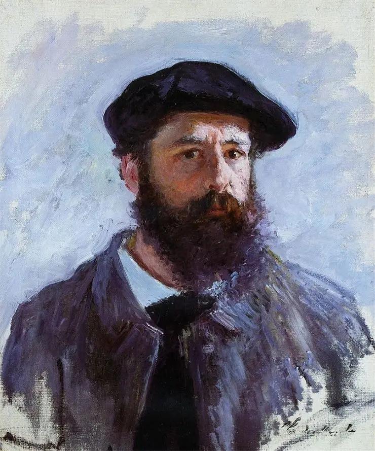 Автопортрет Моне в берете Клод МонеЖивопись, 1886, 56×46 см, Частная коллекция