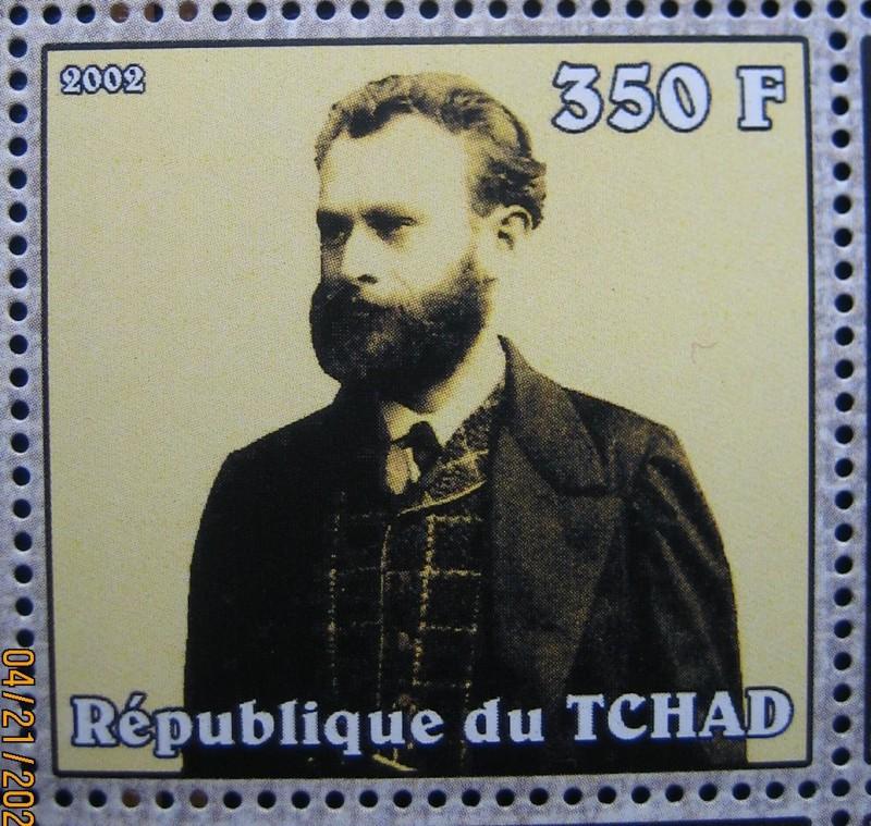 Марка Чад 2002-04-10, Эдуард Мане (1832-1883), по каталогy:Mi:TD 2334A, Sn:TD 949a, Yt:TD 1421, Номинал — 350 FCFA - Центральноафриканский франк КФА.