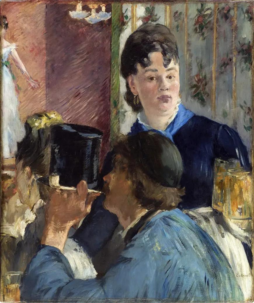 Подавальщица пива Эдуард Мане, 1879, 98×78 см, Музей д'Орсе, Париж